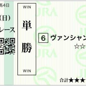 777日目:2021/9/19(日) 中央競馬 6戦1800円