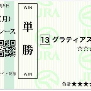 778日目:2021/9/20(月) 8戦2700円/セントライト記念◎グラティアス