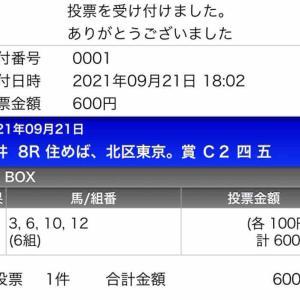 779日目:2021/9/21 大井8R
