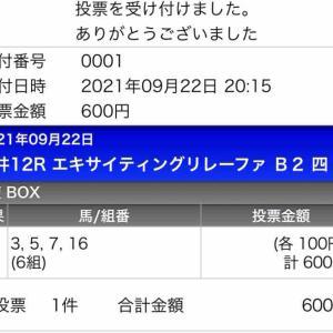 780日目:2021/9/21 大井12R