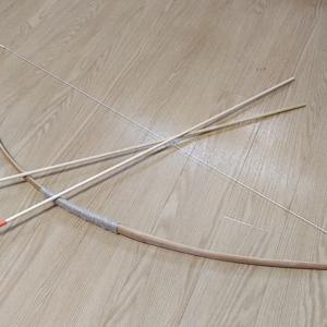 手作りで弓を作ってみました♪(˙ᗜ˙)