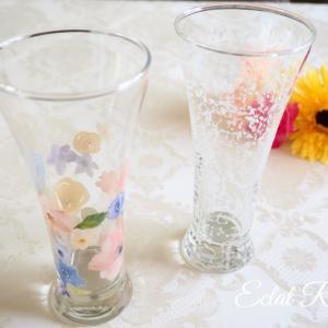【My work】暑い日にぴったりビアグラス♪
