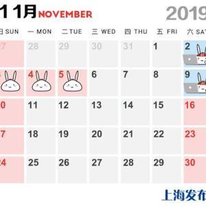 上海市人民政府办公厅发布《关于调整第二届中国国际进口博览会期间公众休息日安排的通知》:将11月4日(周一)、11月5日(周二)调整为休息日,相应将11月2日(周六)、11月9日(周六)调整为工作日。