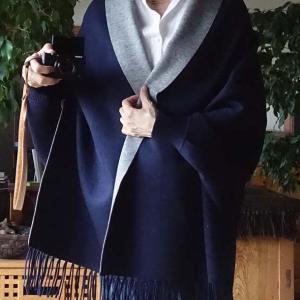 ■着物・洋服OKの袖口付きストール と 何でもないけど安くて軽くて良いバッグ