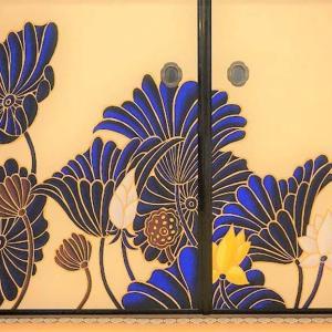 ■着物かご目指して修行その2 青蓮院の襖絵を貼ってみた
