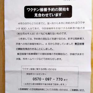 ■ワクチンのクーポンは来たけど・・吹田市全体で800人分ですって????