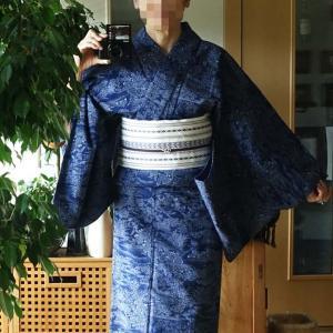 ■ジャパンブルー浴衣で外出 と 今日のヘルシー朝食