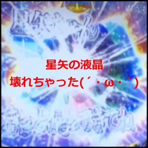 星矢の液晶壊れちゃった(´・ω・`)