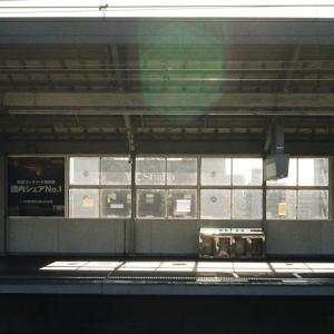 CONTAX G1と岡山駅の新幹線プラットフォーム
