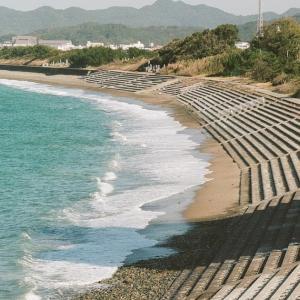 PENTAX 67と只の浜海岸の東の方
