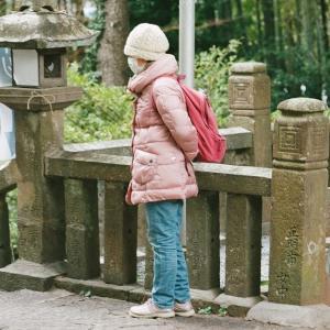 PENTAX 67と1月2日の赤崎神社の参道
