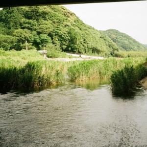 CONTAX TVSと観月橋の下の深川川