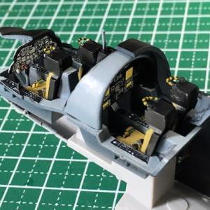 1/72 ハセガワ EA-6B プラウラー(ハイビジ)製作(その2)