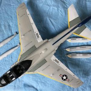 1/72 ハセガワ EA-6B プラウラー(ハイビジ)製作(その7)