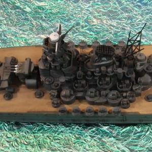 1/700 タミヤ 大和 ウォーターライン製作(その8 完成)