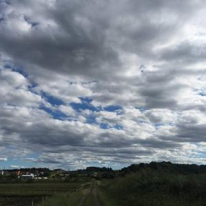 「空に浮かぶ雲」悲しけりゃ雨が降るし、楽しけりゃ晴れわたる。そんなもんさ人生は。