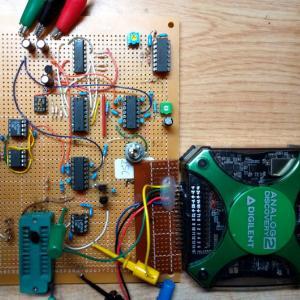 トランジスタカーブトレーサの実験(6)クロックの変更