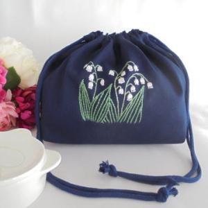 手刺繍 すずらんの咲く庭 イングリッシュガーデン