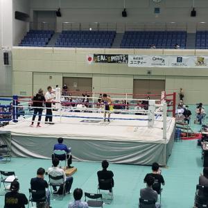ボクシング 湊義生VS大場浩平