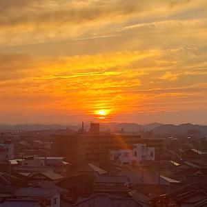 夏至1日前の夕陽