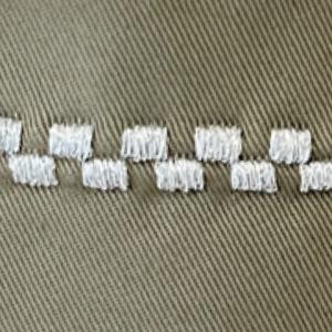家庭用ミシンの刺繍ステッチで遊んでみたら、かなりかわいい