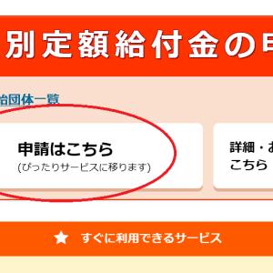 特例給付金10万円の申請をオンラインでしました!IE11ではエラーコード309になりやすいかも