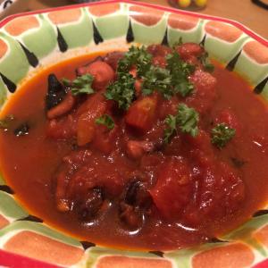 タコレシピ!釣ったタコをトマト煮で食いマッスル!