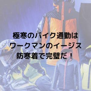 極寒のバイク通勤はワークマンのイージス防寒着で完璧だ