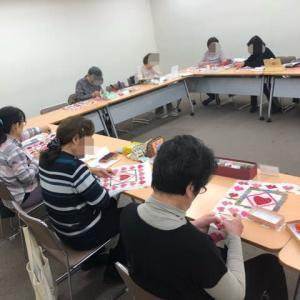 パッチワーク講習会(季節のミニキルト・冬)キルトトップ完成