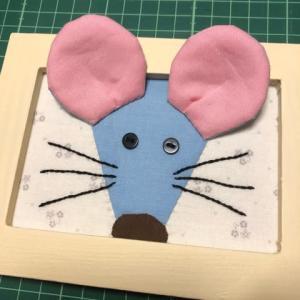 干支のミニフレーム(ネズミ・子)完成