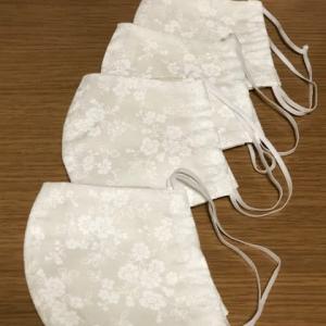 手づくり立体型マスク(ハギレで4枚)