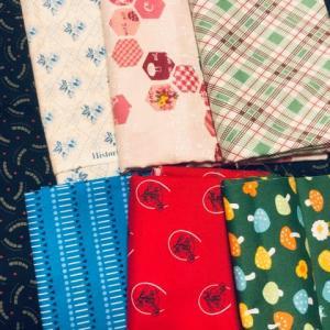 四角つなぎのパターンの布選び