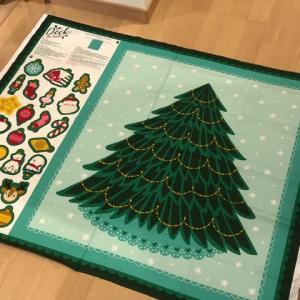 クリスマスプリント布