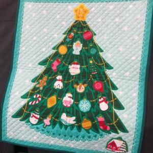 クリスマスツリーのキルト