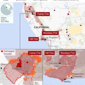 カルフォルニア州の山火事