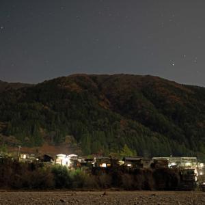 山村の灯り