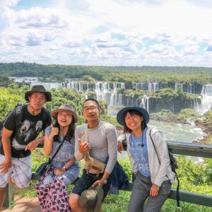 イグアスの滝とハナグマの尻尾 in ブラジル