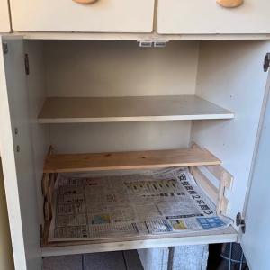 敷いたままの新聞紙はいつのもの?