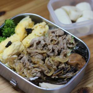 のっけ弁当ー5/27: かき込める豚の生姜焼き
