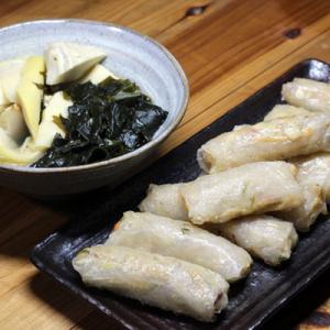 今週の料理、自家掘りタケノコでタケノコ三昧(続)!