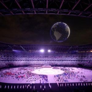 オリンピックのマークが地球に変わる姿に感動