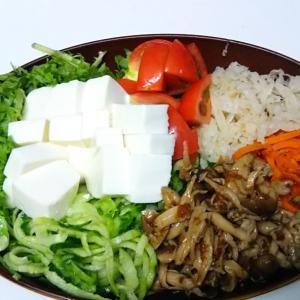 野菜たっぷりな夕食にしてみたら・・・