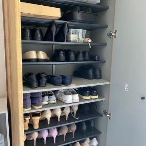 玄関収納のお掃除と靴の処分
