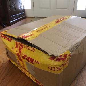 三ヵ国から荷物が同じ日に到着!