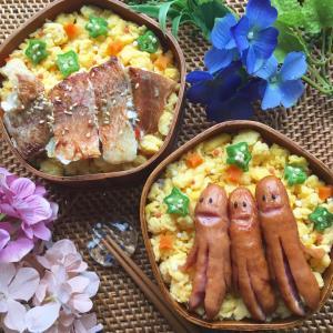 シャウエッセンのソーセー人弁当~レンジでチン!して簡単ソーセー人♪~