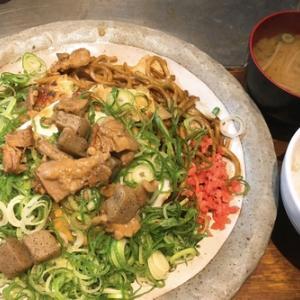 ランチ探訪〜新大阪『めっせ熊』ねぎおこセット+ライス味噌汁!