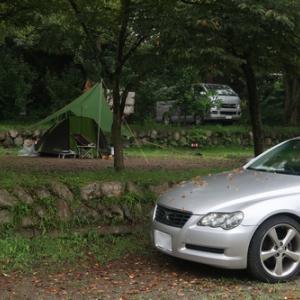 マークXでレインキャンプ at 長瀞オートキャンプ場【その②】!