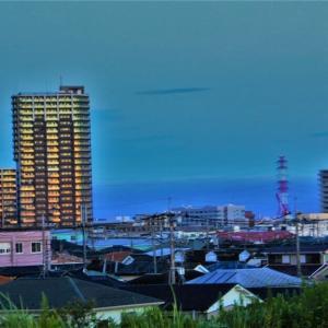 早朝三郷市をみる(江戸川から)