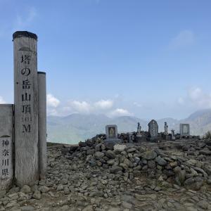 鍋割山~塔ノ岳~三ノ塔 日帰りトレーニング登山の距離を伸ばす 2021.5.9