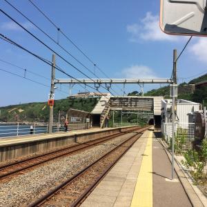 暑すぎるので日本海に一番近い駅、青海川駅に行ってきた